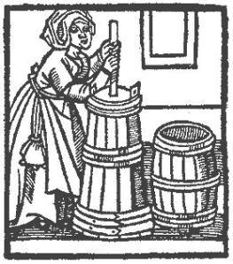 Medieval Maven Making Butter