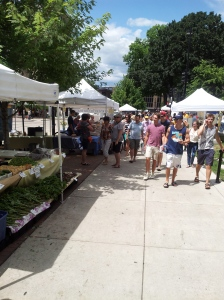 Madison, WI Farmer's Market, currently the largest outdoor market in the USA