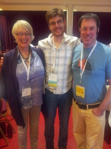 Cheese makers meet Cheesemongers. L-R Mary Quicke of Quickes Farm, Eric Paul of The Cheese Traveler, and Chris of Consider Bardwell Farm