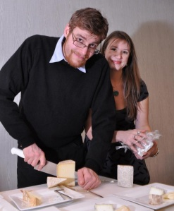 """Eric and Alifair's Workshop """"Making Elegant Cheese Plates"""" at Wine and Dine for the Arts 2013"""